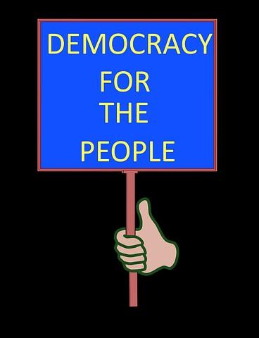 Democracy sign